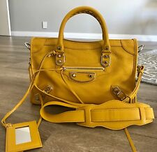 9606ca13522d NWT Brand New Balenciaga Edge City Small Leather Tote Bag in Yellow GHW   2000+