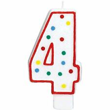 Extra Large Amscan Birthday Party Perfect Candle #4 4 5 inches Wax 4th Number