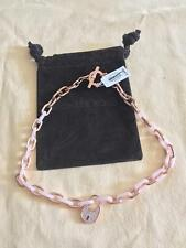 Michael Kors Necklace MKJ4896791 Rosegold Heritage Padlock Acrylic Chain Paypal