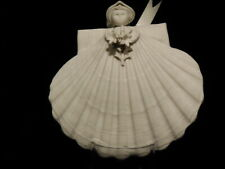 Margaret Furlong Porcelain Shell Angel Ornament 1996 Le Flora Angelica Series