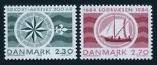 Denmark 751-752,lightly hinged.Michel 802-803. Hydro-graphic Department.1984.