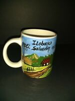 El Salvador Coffee Cup  Mug Handmade & Painted with Mouse Inside