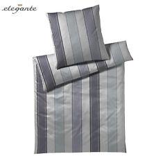 Elegante Bettwäsche Screed 3490 135x200 cm Taubenblau 2 + gratis Handtuch!