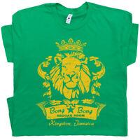 Reggae Bar T Shirt Cool Famous Marijuana Rasta Lion Bob Vintage Men Women Marley