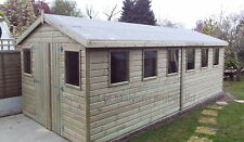 18 x10 19mm APEX HEAVY DUTY Shed/Workshop Tanalised with Multi framed windows