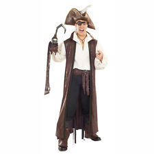 Pirates Of The Seven Seas Long Pirate Costume Coat Rubies 6389