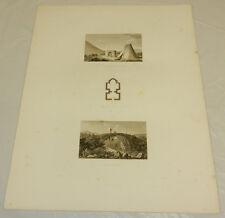 1831 Greek Architecture Print/BRIDGE, FOUNTAIN, CHURCH, IN METAXADES, GREECE/15x