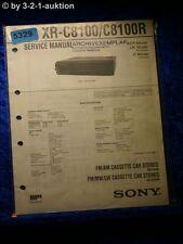 Sony Service Manual XR C8100 /C8100R Car Stereo (#5329)