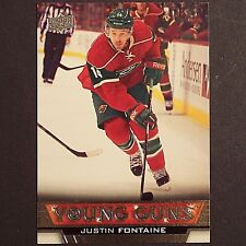 JUSTIN FONTAINE  RC Young Guns UD 2013/14 #232  Minnesota Wild  YG Rookie single