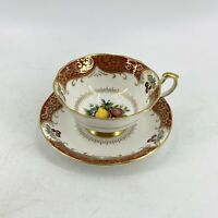 VTG Paragon Stoke On Trent Chatsworth Porcelain Gold Gilt Tea Cup & Saucer Set