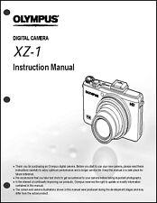 Olympus XZ-1  Digital Camera User Guide Instruction  Manual
