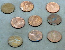 NINE USA 1 CENT COINS  1939 - 1993 as detailed