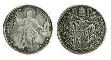 pcc1891) ROMA - Clemente XIII (1758-1769) - Mezzo scudo 1759 A. I Mancanza ore 6