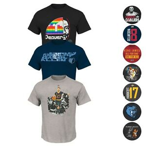 NBA Assortment of Team Player Jersey Graphic T-Shirt Collection by MAJESTIC Men