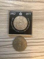 2X 1977 Elizabeth II Silver Jubilee Crown | 1 Cased