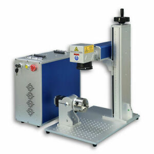US Stock JPT Laser 50W Fiber Laser Marking Engraving Firearms Gun D80 Rotary