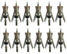 Lot/12Pcs 100 Grain Broadheads 2 blade Free shipping & USA Seller