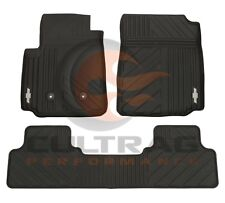 2015-2018 Colorado Crew Cab GM Front & Rear All Weather Floor Mats Black