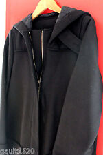 NWT Lacoste Gorgeous Women's Black Wool Hooded Coat Winter Jacket 36 S 4 $650