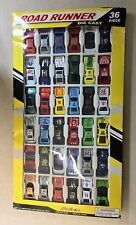 RoadRunner Die Cast Race Cars - Huge 36 Pieces -1:64 Scale by Megatoys *New
