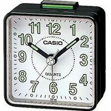 Casio Quartz Small Illumination Beep Timer Analogue Alarm Clock - Black / White