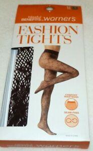 New Womens L/XL Blissful Benefits Warner's Fashion Tights Wine Fish Net Flower