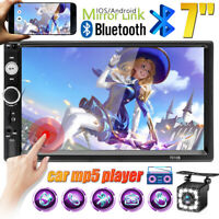 """7"""""""" Double 2Din HD Car Stereo Radio Bluetooth Touch Screen FM USB TF AUX IN MP5"""