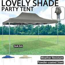 vidaXL Foldable Tent Pop-Up 3x4.5m Outdoor Shaded Canopy Anthracite/Blue/Cream