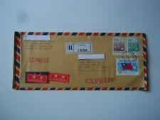 Taipei, Taiwan registered mail cover.