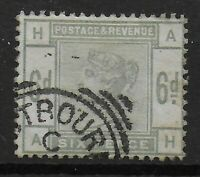 SG194.  6d.Dull Green. VFU With Part Squared Circle Cancel. Clean Back. Ref:0389