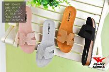 sandali donna  scarpe aperte estive ciabatte mare in sughero strass e camoscio H