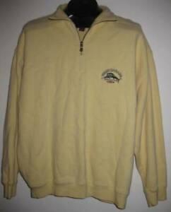 TOMMY BAHAMA relax aruba 1/2 zip sweater M henley long sleeve pullover