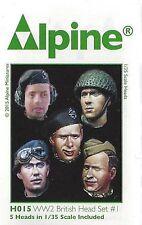 Alpine Miniatures 1/35th Scale WW2 British Head Set #1 Item No. H015