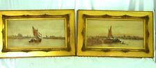 A PAIR Watercolour Paintings of Sail boats Attributed to A. Watts (1883-1935)