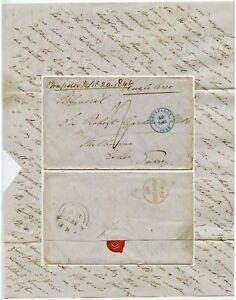 1846 LETTER to SIR ROBERT W GARDINER ROYAL ARTILLERY ESHER from SON in BELGIUM