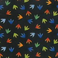 Jurassic Colourful Dinosaur Footprints Cotton Quilting Fabric 1/2 YARD