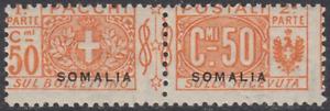 ITALY SOMALIA Pacchi Sassone n.16  cv 480$ MNH**