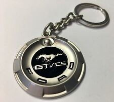RARE! 2 NEW LICENSED FORD MUSTANG CALIFORNIA SPECIAL GT/CS GAS CAP KEY CHAINS!
