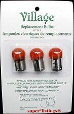 Dept. 56 Light Bulbs S/3 Retired 52708 Halloween Haunted Mansion 54935,34050