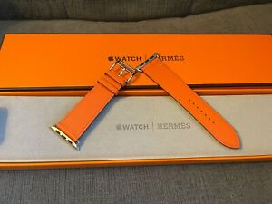 Apple Watch 6 Hermes 44mm Swift Leather Single Tour Orange