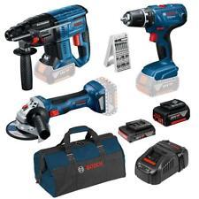 Bosch 18 Volt Akku GSR 18 V-21, GBH 18 V-21, GWS 18 V-7, 2 Akkus, 25tlg. Bitset