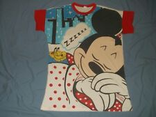 VTG 80's/90's MINNIE MOUSE night shirt All Over Print White XL Sleepwear Mickey