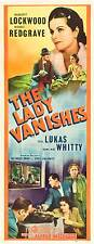 THE LADY VANISHES Movie POSTER 14x36 Insert