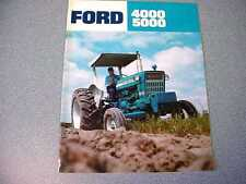 Ford 4000 & 5000 Farm Tractor Color Brochure