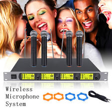 GTD Audio 4 x 800 Channel UHF Diversity Wireless Handheld Microphone Mic System%