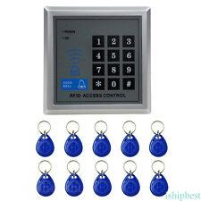 Sistema controllo accessi elettronico RFID voce porta serratura+10 portachiavi