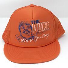 Vintage Denver Broncos NFL The Duke John Elway Mesh Snapback Trucker Hat