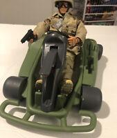 GI JOE Dune Buggy Vehicle Go Kart 22841 Hasbro International 2000 & 2001 GI Joe.