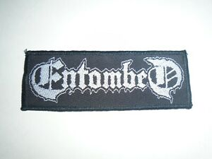 ENTOMBED LOGO DEATH METAL WOVEN PATCH