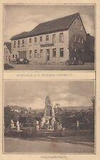 6324- Gruß aus Nieder-Wiesen mit Gasthaus Fresenius Landkreis Alzey-Worms 1932